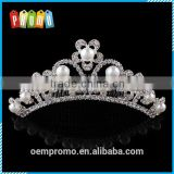 Hot Sale Bride Pearls Tiara Comb for promotional gifts