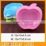 Special Price Private Label Pet Products Apply Shaped Pet Salad Bowl Wholesale Dog Supplies