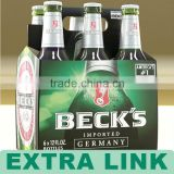 New Design Handmade Recycle Customized custom printed cardboard 6 pack bottle beer carriers