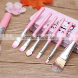 New 7pcs makeup brushes professional synthetic hair Like hello kitty cosmetic makeup brushes