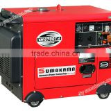 5KW single phase small portable electric air-cooled super silent with ATS diesel generation