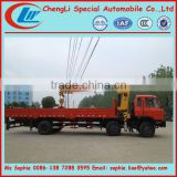 truck crane, used crane truck, 6x2 dongfeng truck with crane 10,000kg truck mounted crane