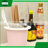 multipurpose eco plastic round table fork knife spoon chopsticks tableware storage case bin container box