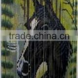 High quality best selling Bamboo Door Curtain with Big Head Horse in Viet Nam