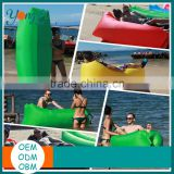 Outdoor Inflatable Lounger Nylon Fabric Beach Lounger Convenient Compression Air Sleeping Bag