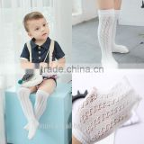 Baby floor sock Infant Cotton Anti-slip Mesh Soft Knee high Socks With Rubber Soles Slipper Summer spring socks white thin mesh
