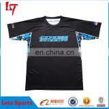 Ditigal printing new style t-shirts custom sublimation full dye black baseball tops/jerseys