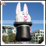 Favorable inflatable rabbit helium ,floating balloon helium animal in hat parade ,promotion inflatable bunny helium balloons