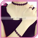 2017 fashion ladies multifunctional necklace black daisy lace necklace nice look necklace