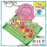 Wholesale lottery toys 2 player bingo chess game keychain