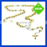 2014 New 18K Gold Filled Beaded Cross Charm Necklace for Women TSSN339#