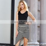 female sexy latest formal dress office lady career clothing tank top and skirt one piece dress
