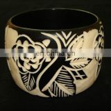 Wide Horn Bangle/ Wide beautifully crafted Horn Bangle