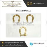 Best Quality Durable D Shaped Pin Brass Shackle at Low Price