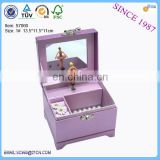 China supplier fashionable cosmetic paper music box with ballerina