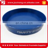 High quality with low price round plastic beer serving tray, promotional anti slip blue bar tray with printing logo