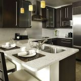 Kitchen Cabinet Tops-QG101 White Reflections