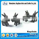 Factory direct shining led plastic animal cute donkey key chain