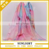 scarf factory bulk wholesale china woman's voile scarf