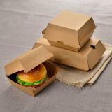 Food garde hamburger packaging paper box