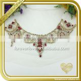 Handmade crystal ab neckline rhinestone applique wholesale FHA-068