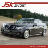 2008-2013 C STYLE CARBON FIBER FRONT BUMPER LIP FOR MERCEDES BENZ C-CLASS W204 AMG C63 FRONT LIP (JSK060141)