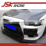 FOR LANCER EVOLUTION EX FRONT LIP JSK-2 CARBON FIBER FRONT LIP FOR MITSUBISHI LANCER EVOLUTION EX (JSK201323)