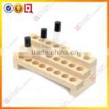 3 Tier wooden countertop perfume skin care display stand