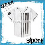 OEM no MOQ csutom youth softball jersey blank white baseball jersey