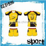 Short sleeve / long sleeve yellow rugby football jersey wholesale price                                                                                                         Supplier's Choice