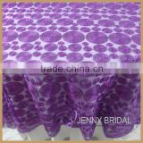 TL009A hot sale purple color round chemical lace table overlays