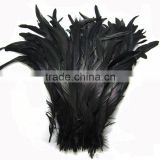 wholesale plumes Black saddle hackle feathers Rooster Tail 6-18 inch