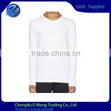 Wholesale Bulk Cheap Price Blank White Leisure Men Long Sleeve Shirts