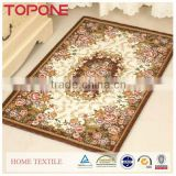Household useful soft jacquard polyester quilted carpet