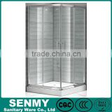 aluminium frame double doors sliding 90x90 square glass shower bathroom shower, bathroom shower wall