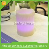 Battery Powered Warm White LED Candles Light - Safe Flameless Mood Candles with Remote Control for Christmas