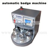 Automatic badge machine button pin maker