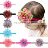 Hot-sales children large lace flower Headband girl elastic Headband Toddler big flower Headband wh-1785