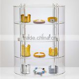Circular Clear Acrylic Jewellery Display Cabinet
