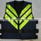 Children black safety vest fabric