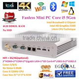 Hot gaming pc Barebone System 4GB Ram Only Broadwell Intell Core i5 5200U Graphics HD 5500 2*Nics+2*HD-MI+2*COM+300M Wifi