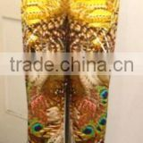 DIGITAL PRINTED CUSTOMED WOMEN PANT/TROUSER, BEAD WORK
