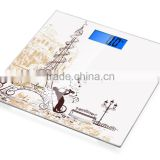 3D NEW technical printing 400lb weighing capacity Electronic body scale bathroom scale digital personal weighing scale