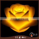 Home decoration hand carved LED candle Rose shape
