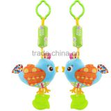 Plush Baby Hanging Squeeze Rattle Teether Toy