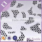 guangzhou manufacturer PU leather flower mesh applique swiss-lace