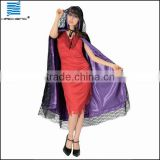 Unisex Halloween Adult black and purple Cape Costumes