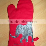 kitchen gloves,oven gloves ,cotton printed glove-2