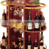 Hahn Banach extension round hotel or restaurant or bar wine beer food hand luxury wood and stainless steeltrolley