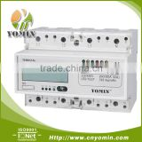 ISO 9001 Factory Three Phase Four Wire Electronic Multi-rate Energy Meter, Din Rail Multi-tariff Energy Meter